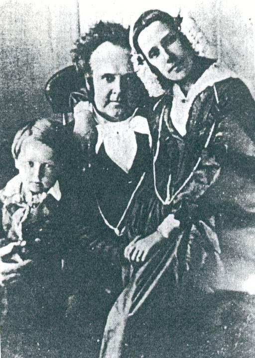 Willard and Jennetta Richards with their son Heber John.